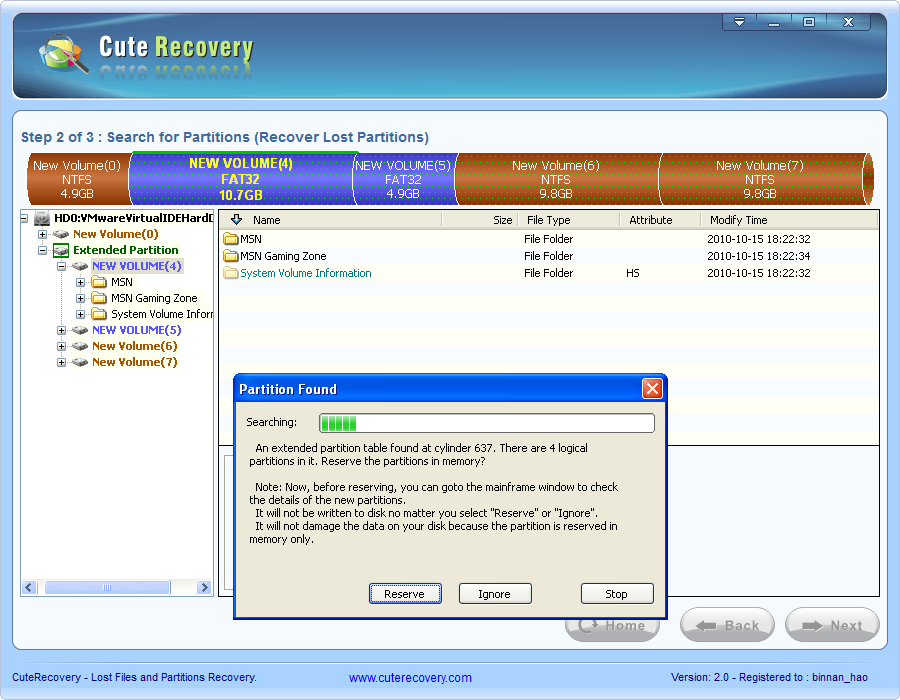Recover Lost Partitions